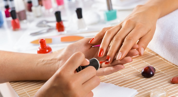 Visit salon modeling tips manicure